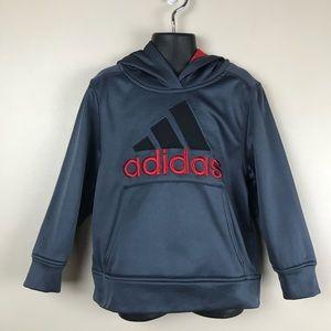 Adidas Kid's Grey Hoodie/Sweatshirt. Size 5.